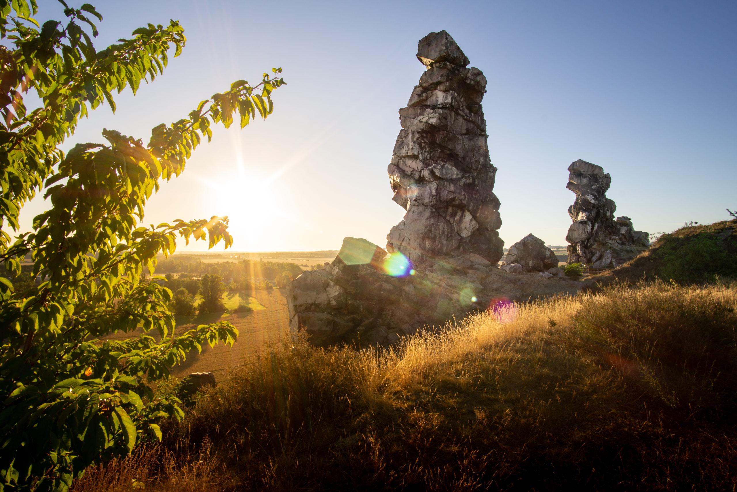 Sommerurlaub Ostdeutschland: Felsformation im Harz