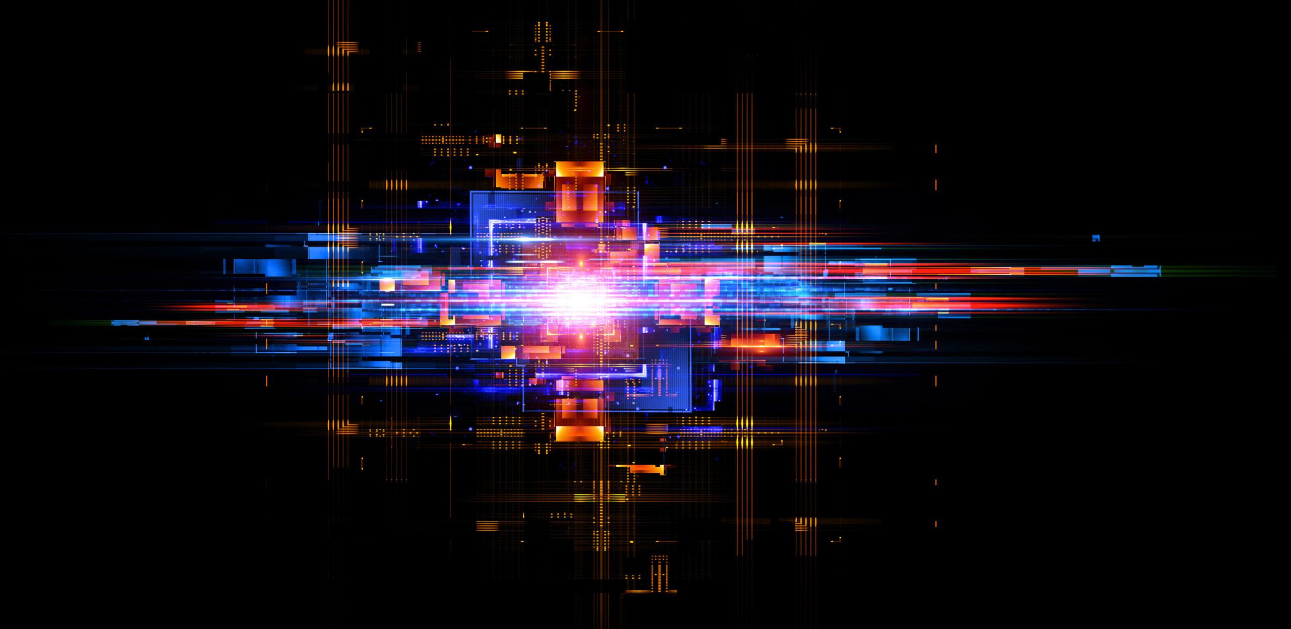 Kommunikation: LED Effekte, Technik der Zukunft, abstrakte Darstellung der Kommunikation