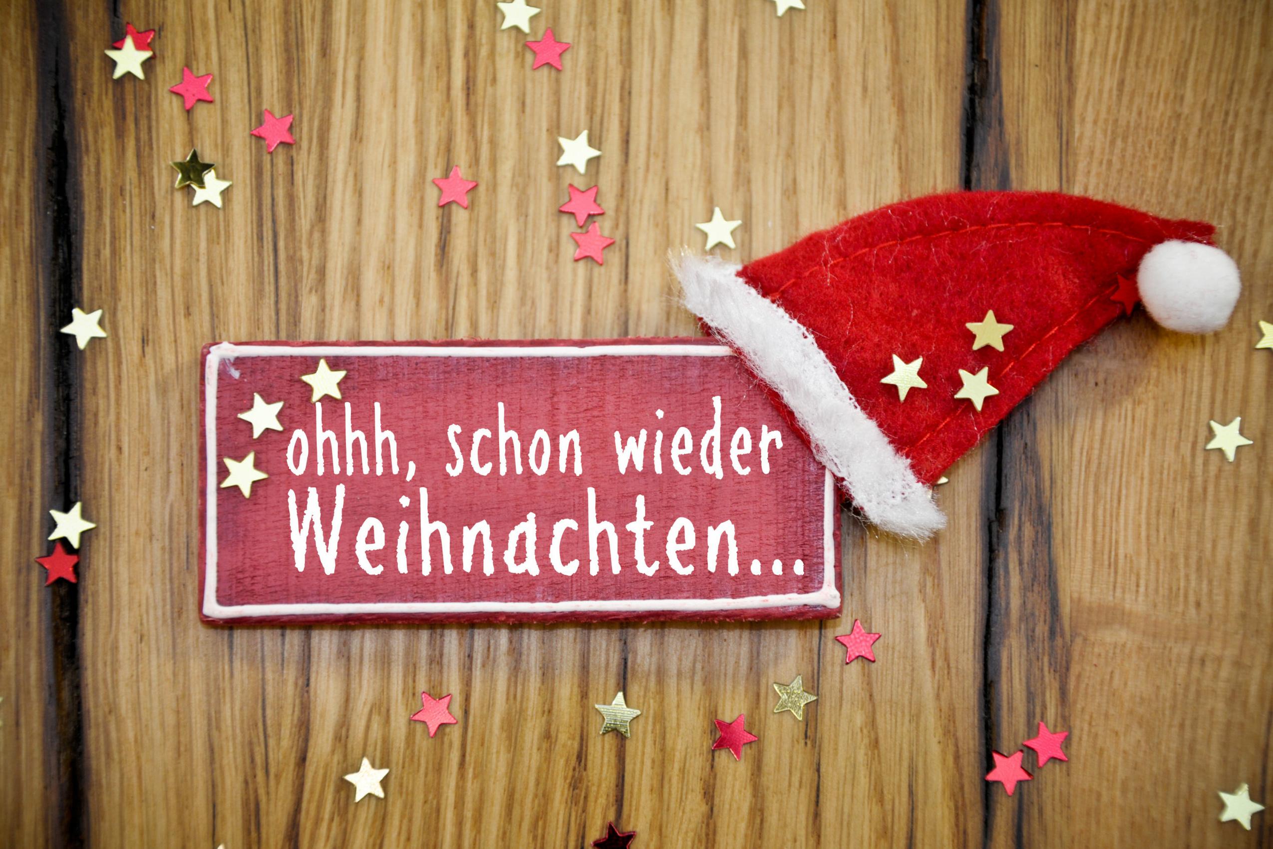 Stress vor Weihnachten: Schild