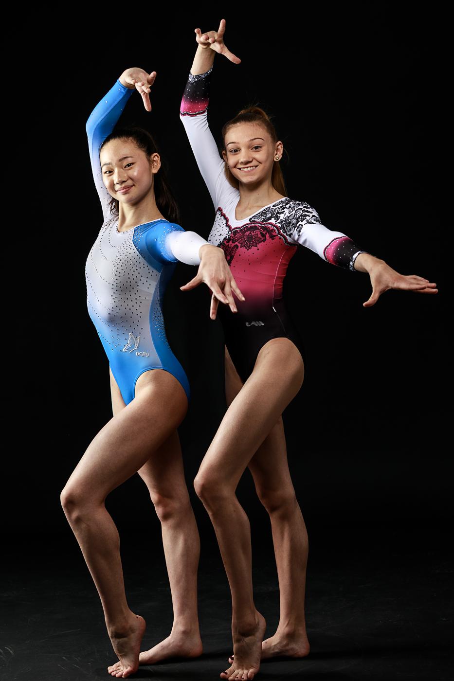 Olympia-PerspektivTeam: Gemeinschaftsfoto von Aiyu Zhu auf der linken Seite und Michelle Kunz rechts.